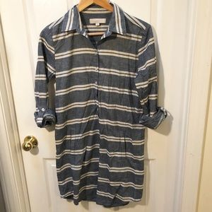LOFT chambray shirt dress